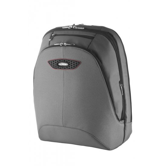 Gray computer backpack 17