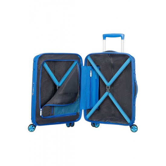 Skytracer 4-wheel Spinner suitcase 55cm Highline Blue