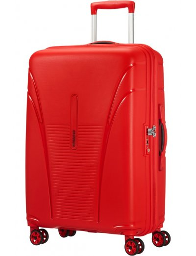Skytracer 4-wheel Spinner suitcase 68cm Formula Red - Product Comparison