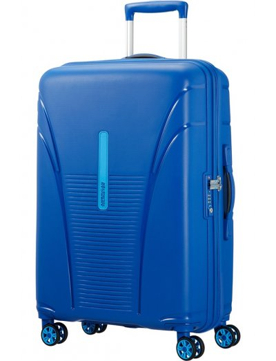 Skytracer 4-wheel Spinner suitcase 68cm Highline Blue - Product Comparison