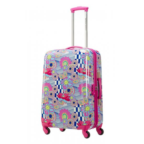 Спинер голям размер на 4 колелца American Tourister Jazz 77 см, цвят морски цветя