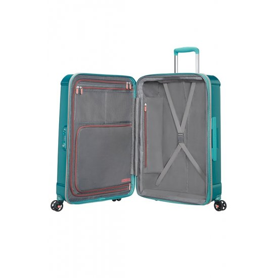 Technum 4-wheel 66cm medium Spinner Expandable suitcase Jade Green