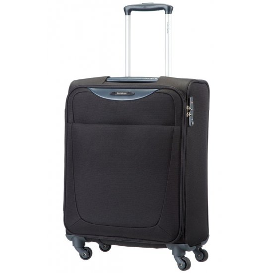 Спинер на 4 колела Base Hits 55 см в черен цвят, размер ръчен багаж