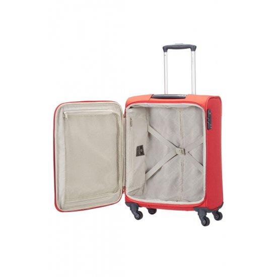 Спинер на 4 колела Base Hits 55 см в огнено червен цвят, размер ръчен багаж