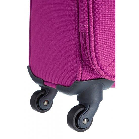 Спинер на 4 колела Base Hits 55 см в розов цвят, размер ръчен багаж