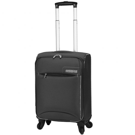 Black Spinner on 4 wheels, Marbella 55 см. American Tourister