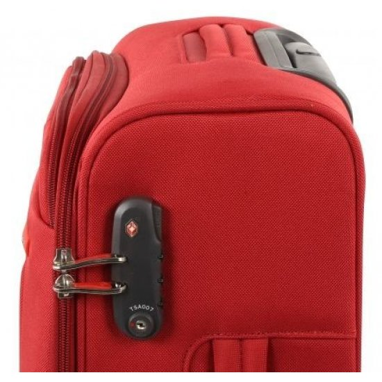Spinner on 4 wheels S-Cape 53 cm. Red
