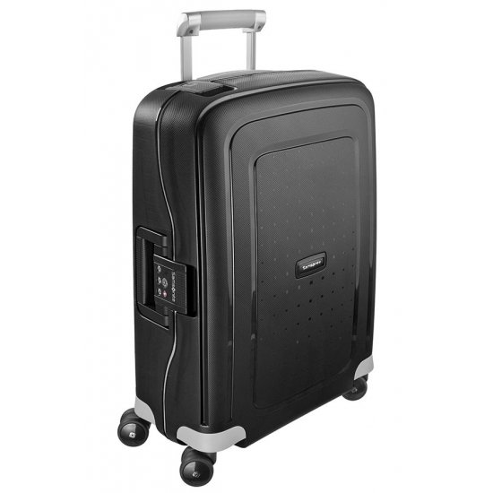 S'Cure Spinner 4 wheels 55 cm cabin luggage black