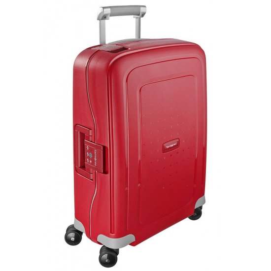 S'Cure Spinner 4 wheels 55 cm cabin luggage purple