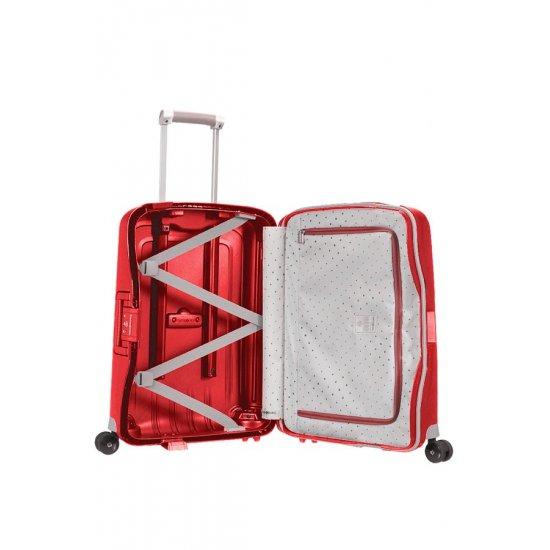 S'Cure Spinner 4 wheels 55 cm cabin luggage purple
