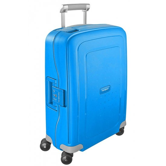 S'Cure Spinner 4 wheels 55 cm cabin luggage blue