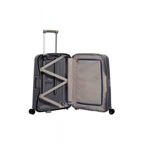 Спинер на 4 колела S'Cure 55 см, размер за ръчен багаж Сив