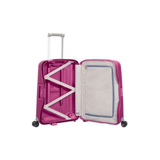 S'Cure Spinner 4 wheels 55 cm cabin luggage pink