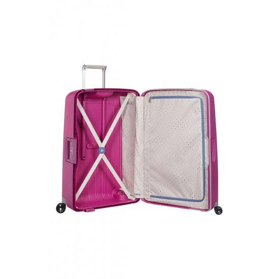 S'Cure Spinner 4 wheels 69 cm medium size pink