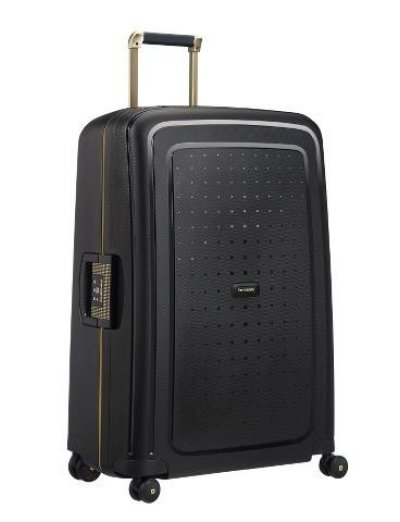 Spinner Metallic Bronze 75 cm. S'Cure Dlx Black/Gold Deluscious - Large suitcases