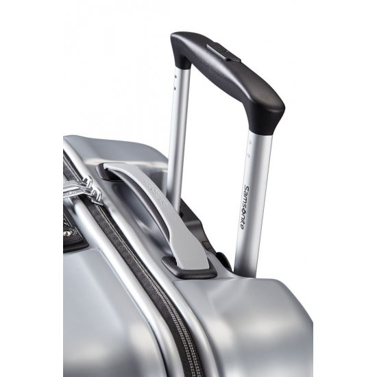 Спинер за ръчен багаж на 4 колела Ultimocabin 55 см, сребрист цвят