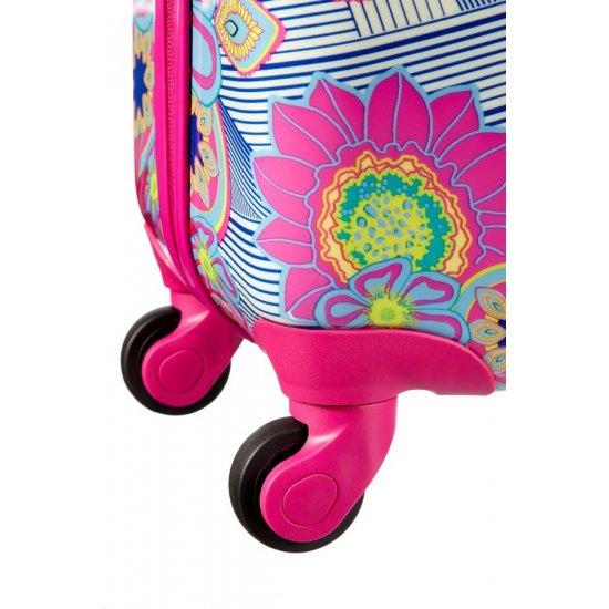 Спинер за ръчен багаж на 4 колелца American Tourister Jazz 55 см, цвят морски цветя