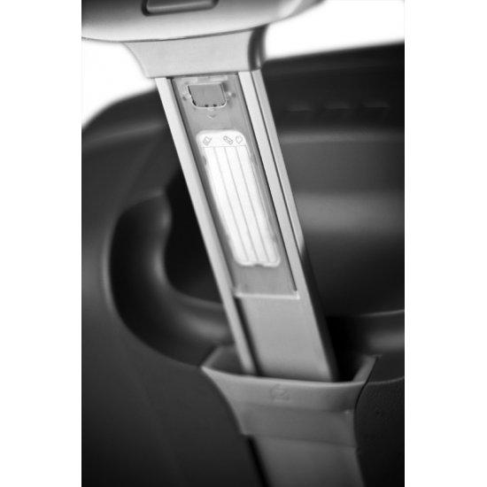 Сребрист куфар на 2 колела Aeris Comfort 64cm