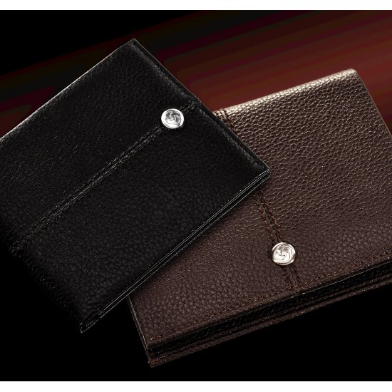 Stylish, black ladie's wallet made out of full leather, model: F66.09.304
