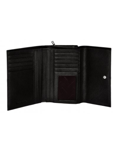 Black stylish wallet from 100% leather - Ladies' leather wallets