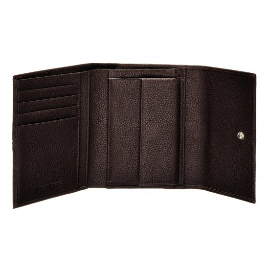 Stylish, brown ladie's wallet made out of full leather