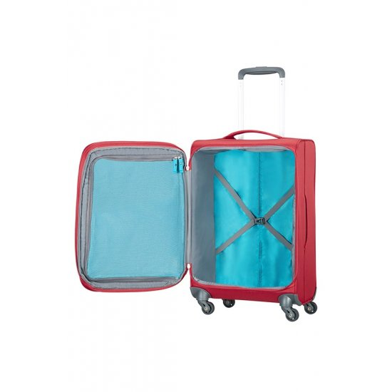 Herolite 4-wheel Spinner suitcase Expandable 55 cm Red