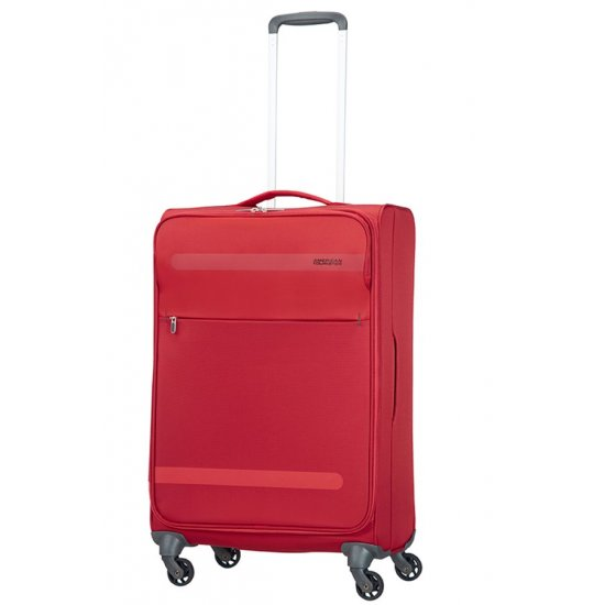 Herolite 4-wheel 67cm medium spinner suitcase Red