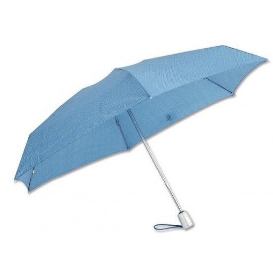 3 section foldable manual umbrella light blue