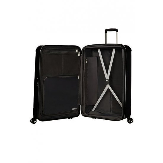 Technum 4-wheel 66cm medium Spinner Expandable suitcase Diamond Black