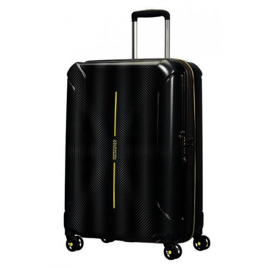 Technum 4-wheel 66cm medium Spinner Expandable suitcase Black Blurred