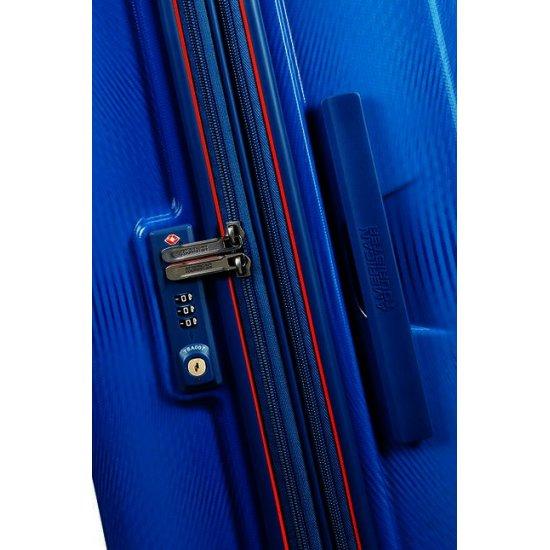 Technum 4-wheel 66cm medium Spinner Expandable suitcase Blue Blurred