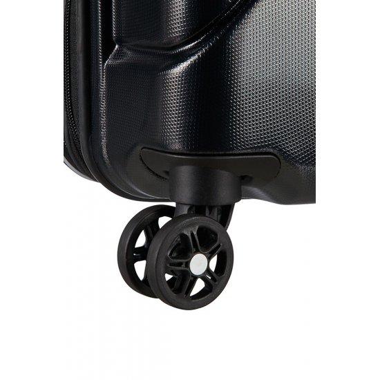 Technum 4-wheel 76cm large Spinner Expandable suitcase Diamond Black