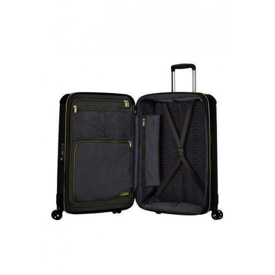 Technum 4-wheel 76cm large Spinner Expandable suitcase Black Blurred