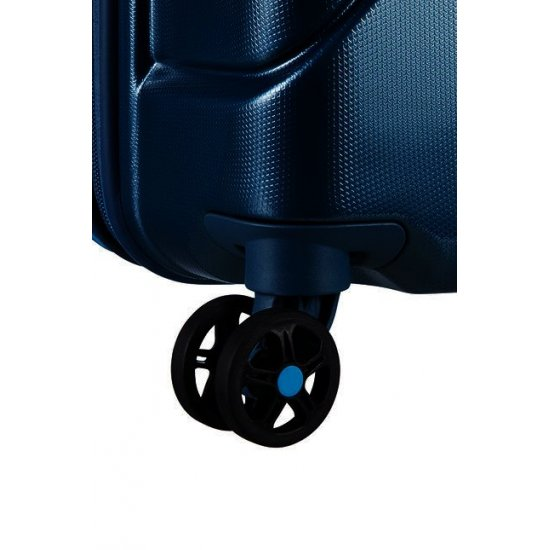 Technum 4-wheel 76cm large Spinner Expandable suitcase Metallic Blue