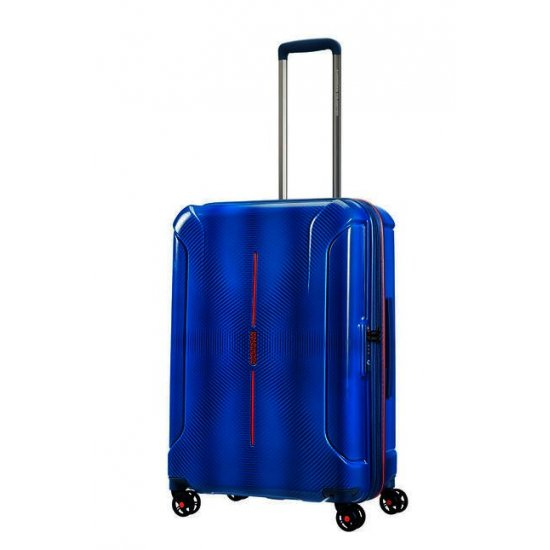 Technum 4-wheel 76cm large Spinner Expandable suitcase Blue Blurred