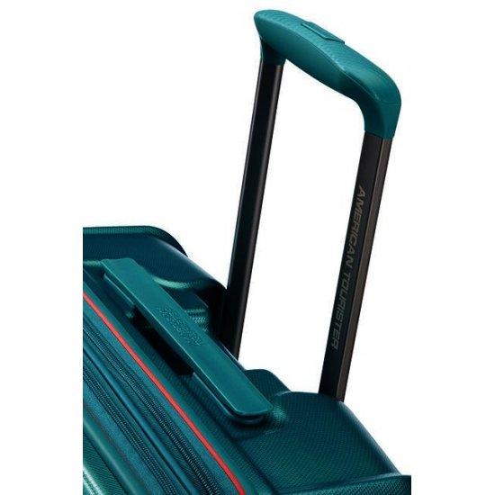 Technum 4-wheel 76cm large Spinner Expandable suitcase Jade Green
