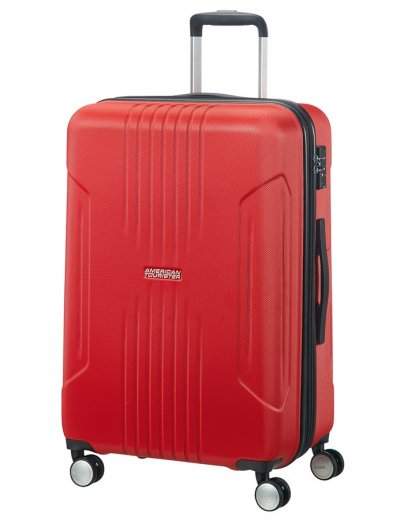 Tracklite 4-wheel Spinner suitcase 67cm Exp. Flame Red - Hardside suitcases