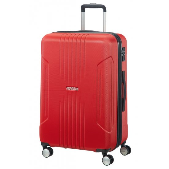 Tracklite 4-wheel Spinner suitcase 67cm Exp. Flame Red