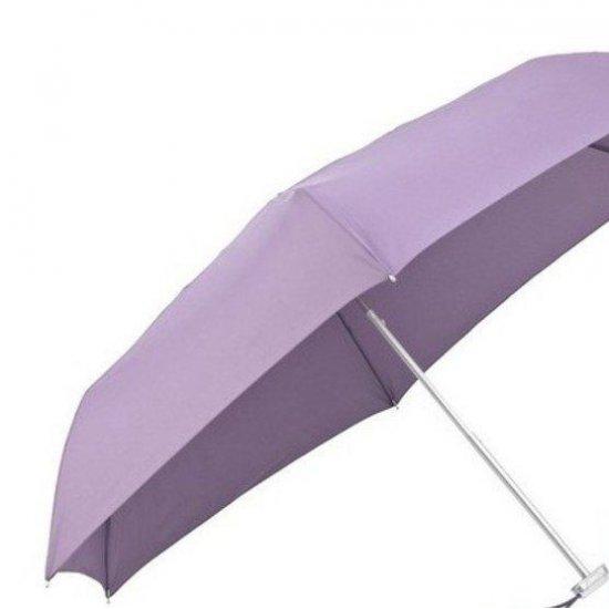 Тройно сгъваем лилав ръчен мини-чадър
