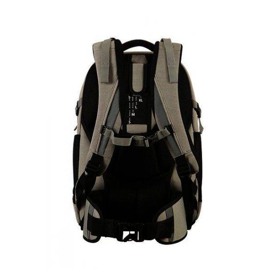 Turn Up Backpack  M Leaf Light Grey