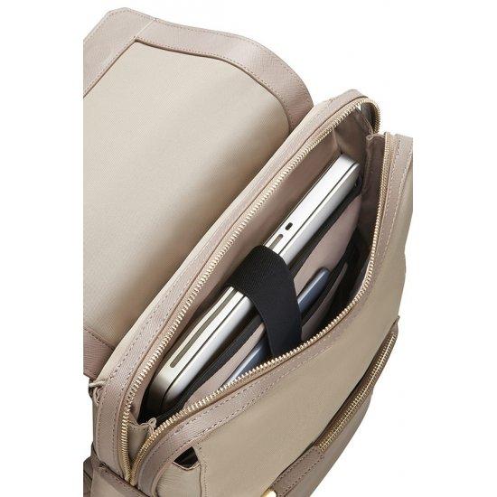 Zalia Rectangular Backpack 35.8cm/14.1″ Beige