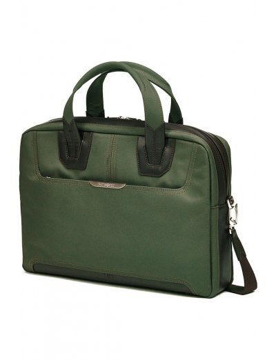 Green Briefcase Gusset 15.6 - Men's business bags