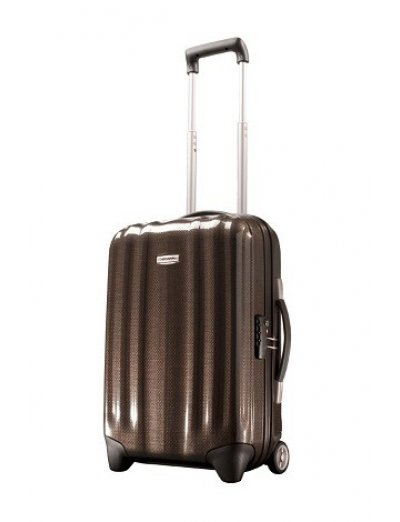 Куфар на 2 колела за ръчен багаж Cubelite 54 см цвят шоколад - Hand luggage/cabin