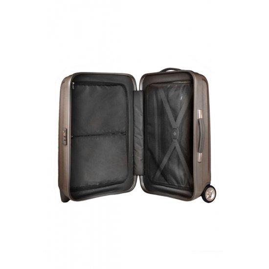 Куфар на 2 колела за ръчен багаж Cubelite 54 см цвят шоколад