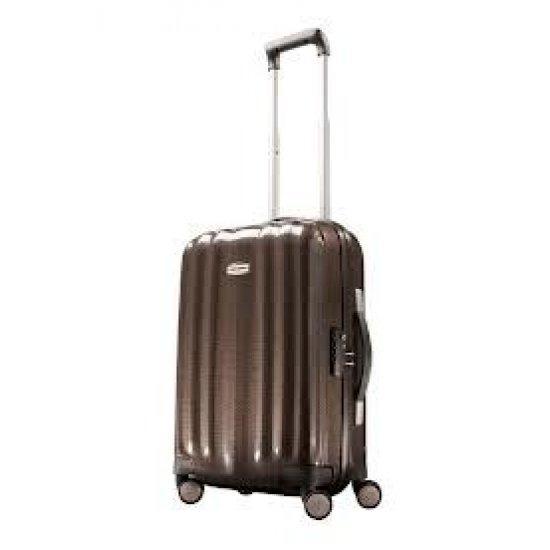 Спинер за ръчен багаж Cubelite 55 см цвят шоколад